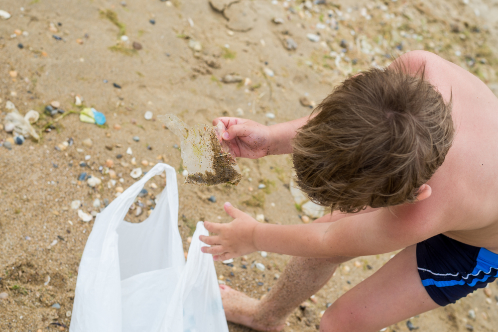 Humans produce huge amounts of garbage every day; if we keep going at this rate, our children will be running on beaches filled with plastic debris.